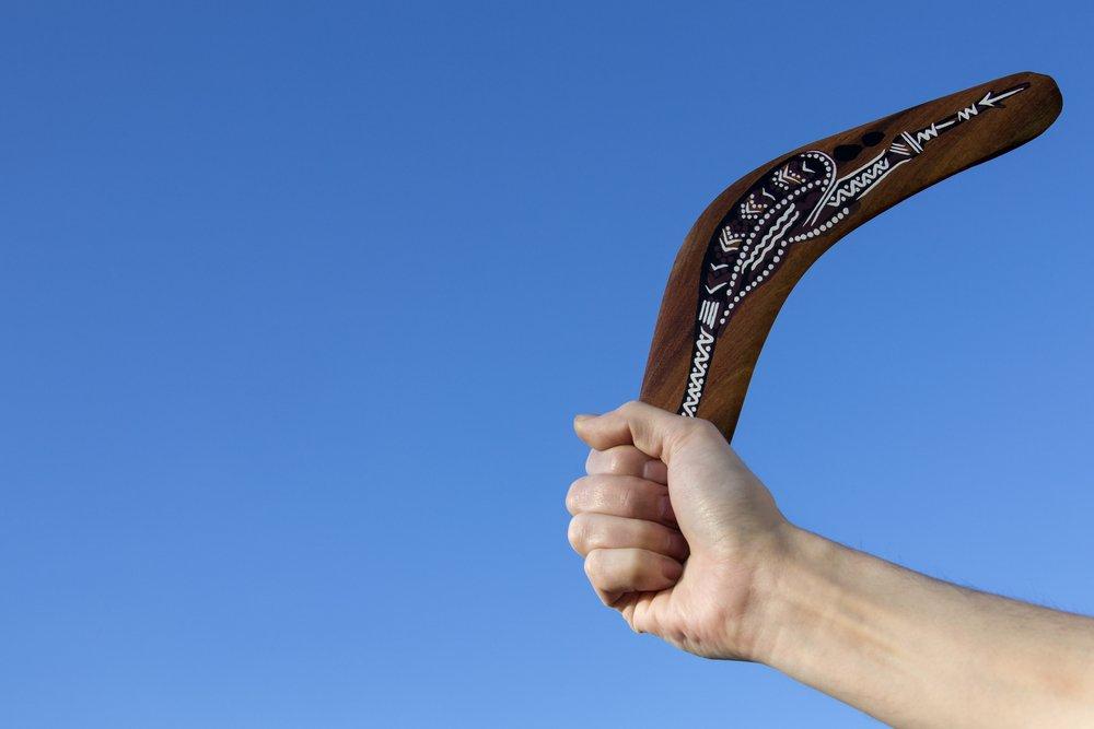 Πώς να σας γυρίσει … μπούμερανγκ